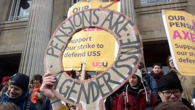 International Women's Day rally at Leeds University during the 2018 USS Pension Strikes by Alarichall