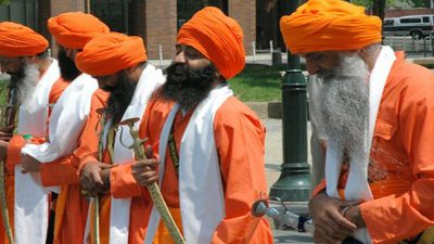 Kes - unshorn hair - is an article of faith for Sikhs (Credit: Shreyans Bhansali)