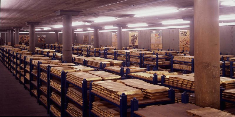 The Gold Vaults of the Bank of England [Credit: Bank of England]