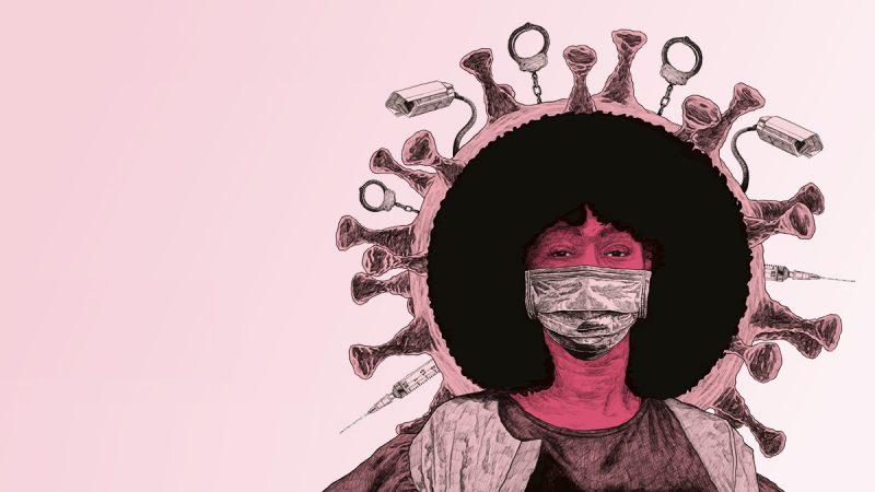 An illustration featuring French Black Lives Matter activist Assa Traoré