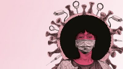 An illustration featuring French Black Lives Matter activist Assa Traoré