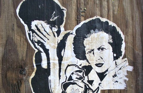 Margaret Thatcher street art
