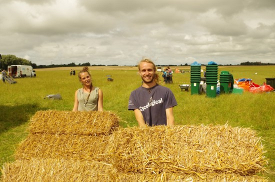 Haybale seating arrives