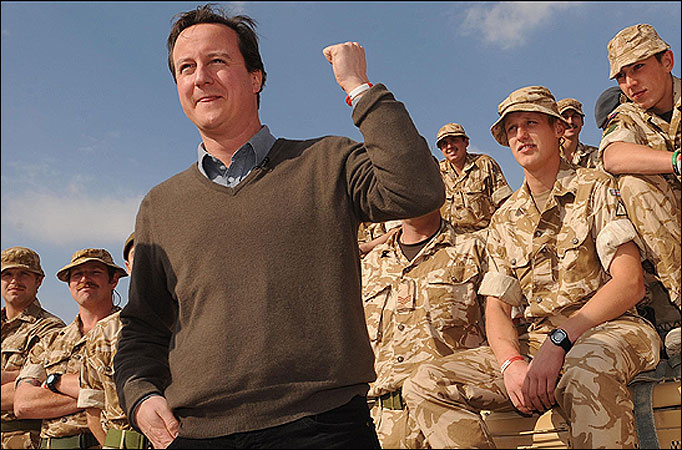 A photo op as Cameron visits troops in Afghanistan